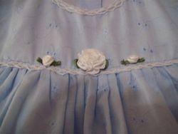 Blue Dress Front Detail