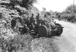 Panzerjäger with a Pak 35 in action: