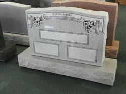 Gray Upright w/panels ready for inscription