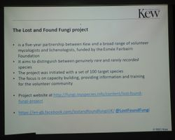 Paul Cannon on Activities to reduce the data deficiency for fungi in the UK