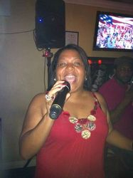 Irma bringing it live to Legendary Friday Night Karaoke! This Lady here is a Merenguera/Salsera who made people shuffle their feet and dance to the beat!!
