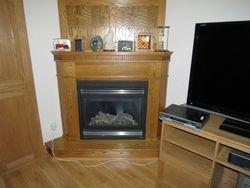 Custom Made Oak Fireplace