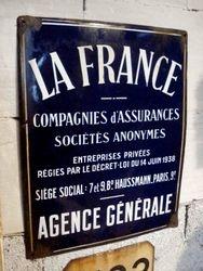 #15/077 Enamel Insurrance Plaque