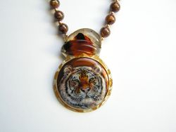 Siberian Tiger Necklace SOLD