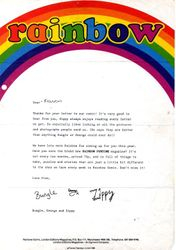Letter from Bungle, George and Zippy
