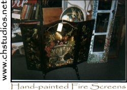 Hand-painted Fire Screens