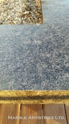 Repaired break in outdoor granite
