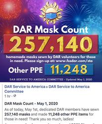 May 1st - 257,140 Masks Made