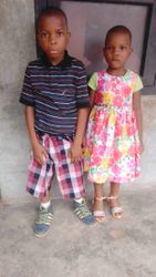 Miracle and Daniel Okoroafor. Brother and sister who both need speech therapy input