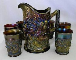 Acorn Burrs 7pc water set, purple