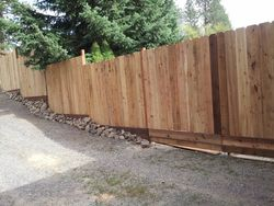 Utility Gate & Multi-level Fencing for Steep Lot