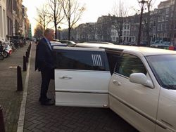 Op pad met Andre van Duin in onze lincoln limousine Voor AVRO-TROS opnames