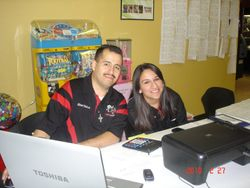 Albert Salinas and Diana Mateo