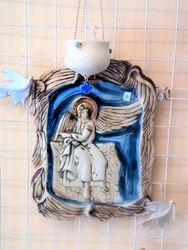 Ikona Bijelog andjela i kandilo