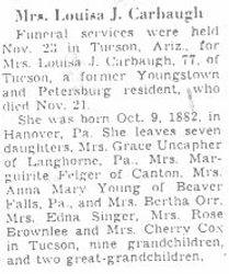 Carbaugh, Louisa J.