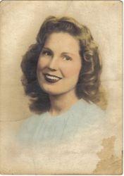 Billie JeanCatsleman at 17. Wife of John Conner Dunn