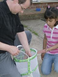 Releasing the butterflies we watched from caterpillars