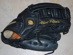 Albert Pujols 2002 Game Used Worn Glove