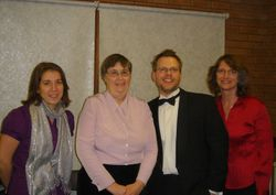 Anne Callis, Gill, Steven and Janet Brouat