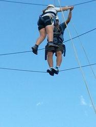 Michael and Logan begin partners ropes 3