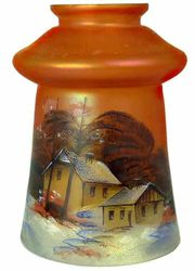 Enameled lamp shade, marigold, European