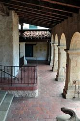 Santa Barbara Mission Courtyard 3