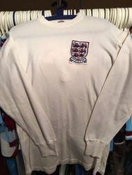 Billy Jennings worn England youth shirt.