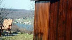 Sauna overlooking the lake