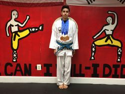 04/26/2015 Presidential Cup TKD Championship  Joshua Arellano  1st Place Forms  1st Place Breaking 1st Place Sparring