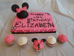 3-D Minnie Mouse Sheet Cake