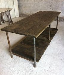 SOLD #18/010 Industrial Table SOLD