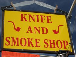 Salida Cutlery & Smoke Shop Sign