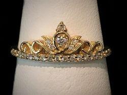 14k tiara ring with diamonds