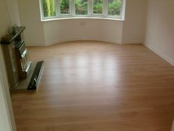 laminate floor job