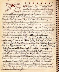 Gerald Isaac Grubb Journal Page