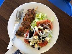 Greek Salad & Souvlaki
