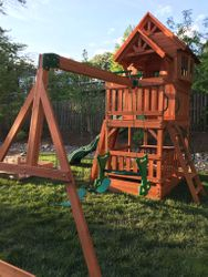 Backyard Discovery Liberty II swing set assembly in leesburg virginia