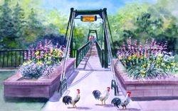 Chickens and The Swinging Bridge (Horizontal-2)