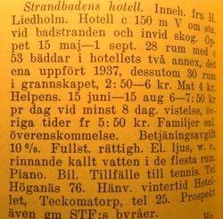 Strandbadens hotell 1941