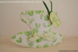 Green floral teacup and saucer