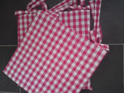French Gingham Seat Pads