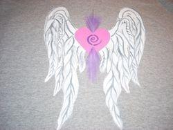 Heart Wings on Gray...