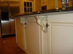 Custom Built Island with Corbels