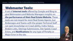 Webmaster Tools - Real Estate SEO Short Definition
