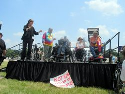 Bruce Darling and Members of ADAPT at the Rally at 2015 NCIL Conference