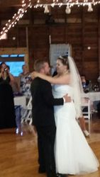 Ashley and Brian share their first dance together...