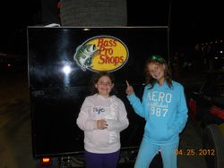 Lindsey loved the Bass Pro Shop sprint car.
