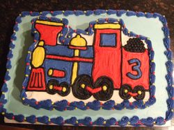 Two Tier Train Cake (View 1)
