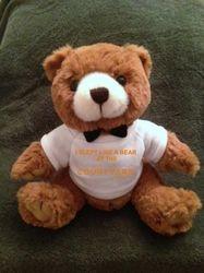 "Teddy Bears, Plush. - ""I SLEPT LIKE A BEAR AT THE RESIDENCE INN"" - 9"" Tall.  Makes a special gift"