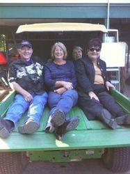 Damon, Debbie Henson, Julliette, and Deb Buoy take Sandras tour of the complex